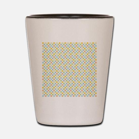 1970s Square Pattern16x16 Shot Glass