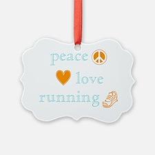 PeaceLoveRunning Ornament