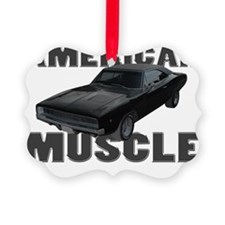 american muscle charger gray Picture Ornament