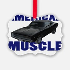 american muscle charger gray deep Ornament