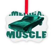 american muscle charger blue Ornament