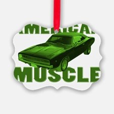 american muscle charger green Ornament