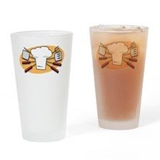 King Of Coals White Drinking Glass