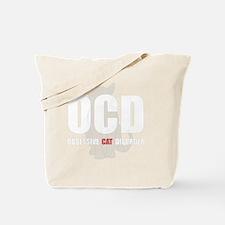 OCD Cat White Tote Bag