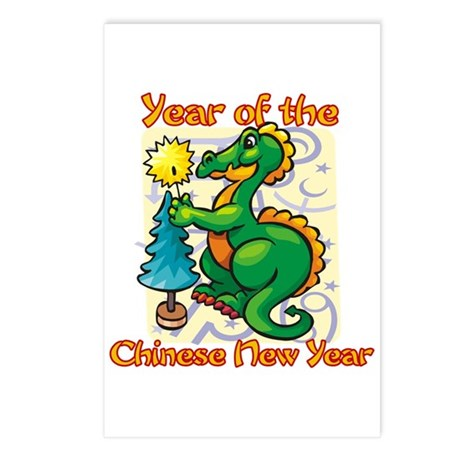 Chinese New Year Year of the Dragon Postcards (Pac