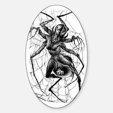 SpiderWoman2-Tshirt Sticker (Oval)