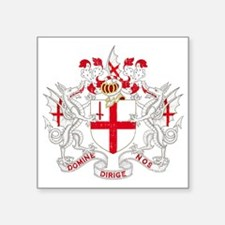 """1000px-Coat_of_Arms_of_The_ Square Sticker 3"""" x 3"""""""