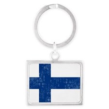 2000px-Flag_of_Finland Landscape Keychain