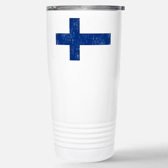 2000px-Flag_of_Finland Stainless Steel Travel Mug