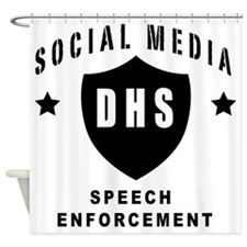 Social Squad DHS Shower Curtain
