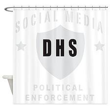 Social Squad grey Shower Curtain