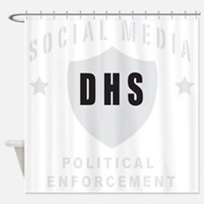 Social Squad grey Shower Curtain