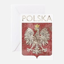 vintagePoland7Bk Greeting Card