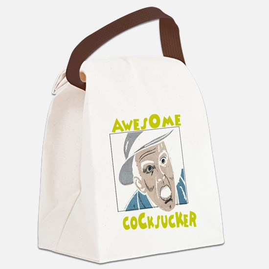 awesome cocksucker on trans Canvas Lunch Bag
