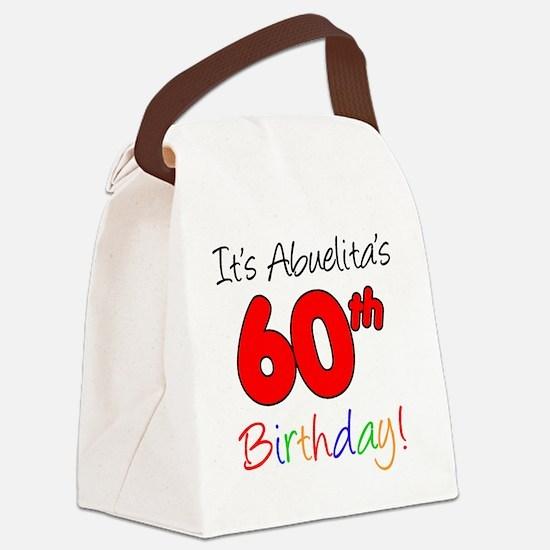 Abuelitas 60th Birthday Canvas Lunch Bag