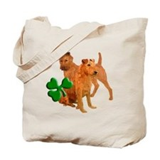 irish terriers with shamrock Tote Bag