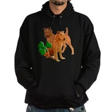 irish terriers with shamrock Hoodie