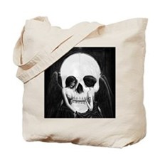 skull illusion square Tote Bag