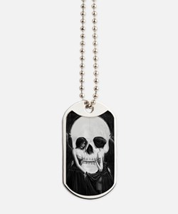 skull illusion for journal Dog Tags