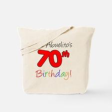 Abuelitos 70th Birthday Tote Bag