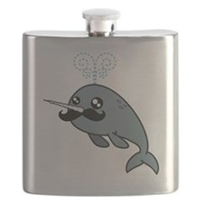 Narwhal Mustache Flask