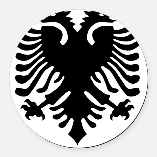 albania6 Round Car Magnet