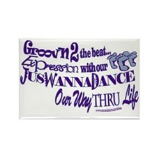 Juswannadance Rectangle Magnet