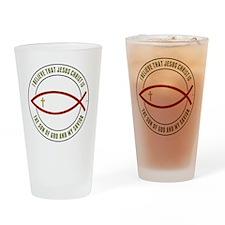 feb12_christian_fish_colors Drinking Glass