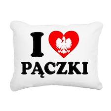 I Love Paczki Polish Apr Rectangular Canvas Pillow