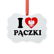 I Love Paczki Polish Apron Ornament