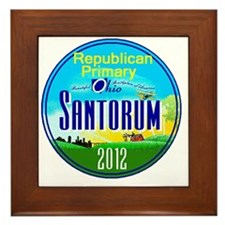 Santorum OHIO Framed Tile
