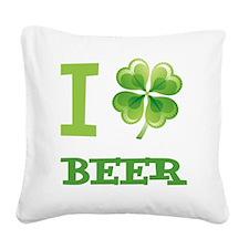 i-love-irishB Square Canvas Pillow