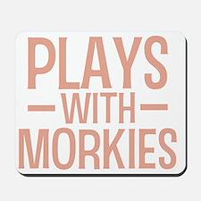 playsmorkies_black Mousepad
