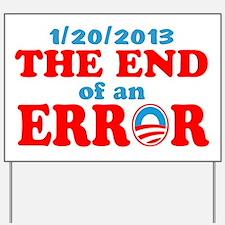 end error 122013 rwb Yard Sign