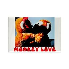 Monkey Love Rectangle Magnet