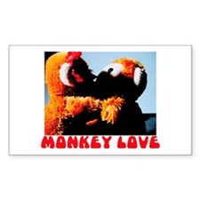 Monkey Love Rectangle Decal