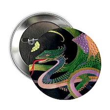 "(G) dragon tile - GoldNPrussian (Tif) 2.25"" Button"