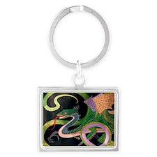 (F) dragon tile - GoldNJade (Ti Landscape Keychain