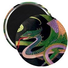 (F) dragon tile - GoldNJade (Tif) Magnet