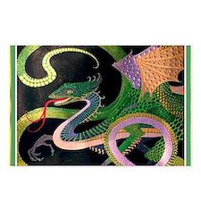 (F) dragon tile - GoldNJa Postcards (Package of 8)