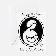 LLL Logo Breastfed Babies Greeting Card