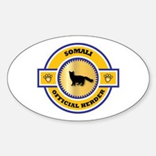 Somali Herder Oval Decal