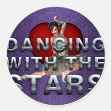 dancingwtslove1b Round Car Magnet