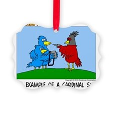 Cardinal Sin Ornament