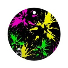 PaintSplat Round Ornament