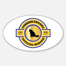 Angora Herder Oval Decal