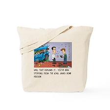 King James Bond Version Tote Bag