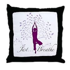 JustBreathe Throw Pillow