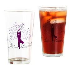 JustBreathe Drinking Glass