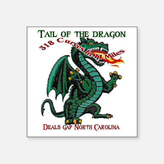 """Flaming Dragon Tail of the  Square Sticker 3"""" x 3"""""""
